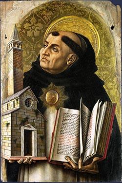 Carlo Crivelli, Św. Tomasz z Akwinu (1476
