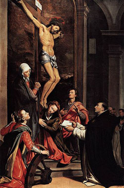 Santi di Tito, Wizja św. Tomasza z Akwinu (1593)
