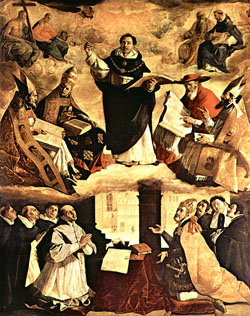 Francisco de Zurbaran, Apoteoza św. Tomasza z Akwinu (1633)