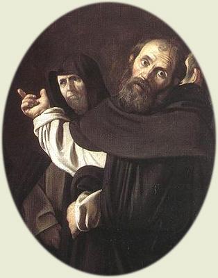 Caravaggio, Tomasz na obrazie Madonna del Rosario (1607)